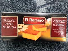 Turrón yema tostado - El Romero