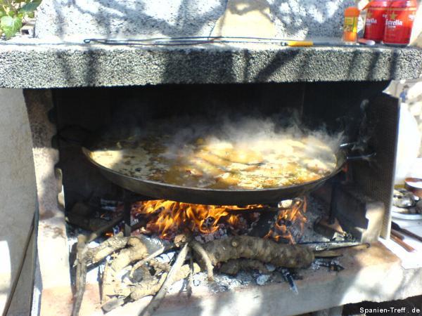 Die Paella Kocht