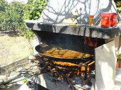 Hinzufügen von Safran oder Cocuma, Salz und Reis