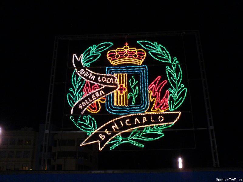 Wappen von Benicarló aus Licht