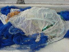 Fischernetzhaufen
