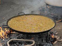 Paella am kochen