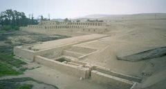 038 39  Aus den Ruinen der Stadt Pachacámac, Der Tempel der Sonnenjungfrauen, der  Mamakuna oder Mamaconas