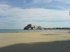 Peñíscola vom Strand aus