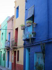 Farbige Häuserfasaden
