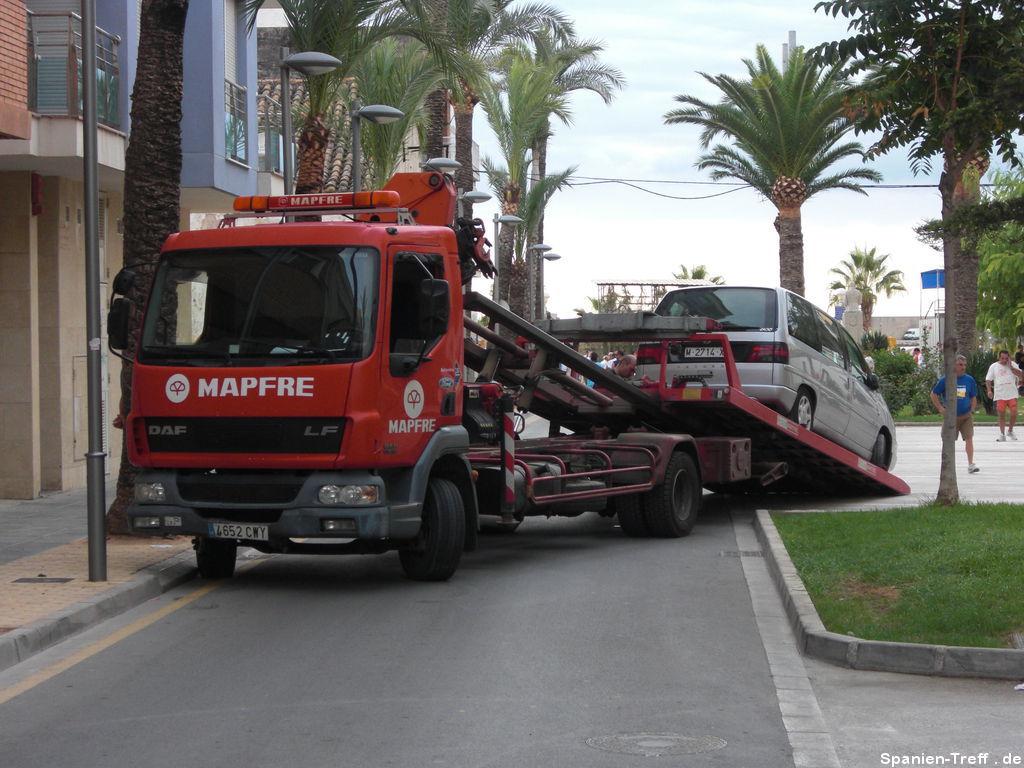 Abschleppen eines Fahrzeuges
