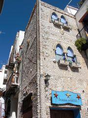 Muschelhaus Blick auf beide Fasaden.