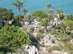 Blick auf den Palmengarten des Antipapstes Papa Luna in Peñíscola.