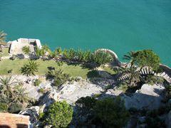 Blick auf den Garten des Antipapstes Papa Luna von Peñíscola