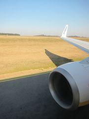 Start vom Flughafen Frankfurt Hahn