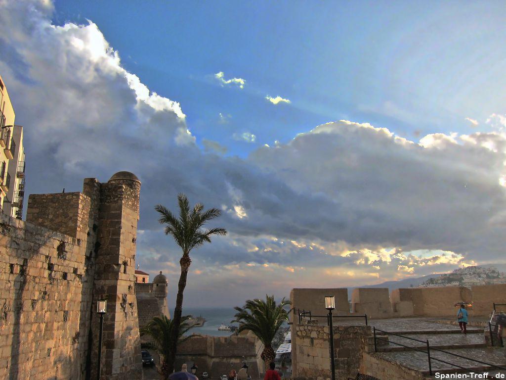 Wolkenformation bei Peñíscola