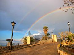 Doppelter Regenbogen bei Peñíscola