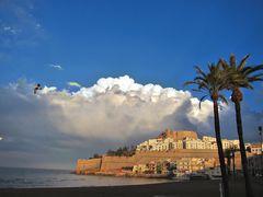 Wolken hinter Peñíscola