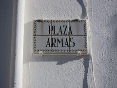 Straßenschild als Keramikfliese