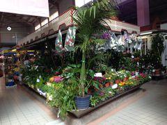 Blumengeschäft in der Markthalle