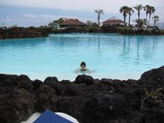 Puerto de la Cruz - die tolle Schwimmbecken oder Schwimmseen? die von Cesar Manrique entworfen wurden (das habe ich genossen!)