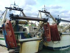 Fischerboote von hinten