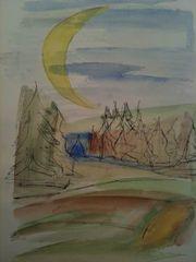 Der Mond ist aufgegangen 2Gouache und Tusche 20/29Mai 1966
