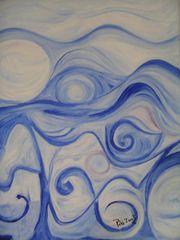 Blau1Öl auf Leinwand 46/55Februar 2003