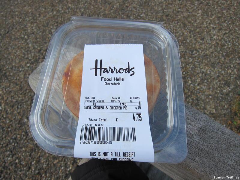 Chorizo Pie (Kuchen) im Hide Park in London