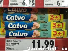 Calvo Thunfisch im Kaufland in Polen