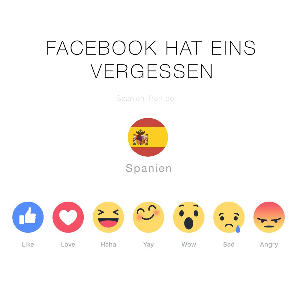 "Facebook ""Like""-Buttons mit Spanien"