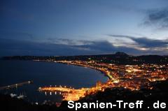 Nachtpanorama in Spanien