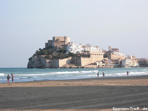 Blick auf Strand und Peñíscola